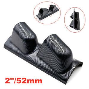 """2""""/52mm Carbon Fiber A Pillar Pod 2 Hole Gauge Holder Pod Left Side Gauge Pod"""
