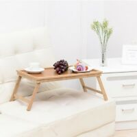 Bamboo Bed Tray Breakfast Laptop Desk/Food Serving Hospital Table/Foldable Legs