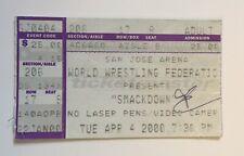 WWF WRESTLING SMACKDOWN TICKET STUB APRIL 2000 CHRIS BENOIT THE ROCK KURT ANGLE