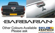 Mitsubishi L200 Barbarian Rear Tailgate Decal Sticker Transfer Badge