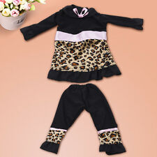 Handmade Leopard Pattern Top + Pants Clothes Set for 18 inch Doll