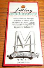 PEWTER LETTER M CAR FORT GIFT LASTING EXPRESSIONS--MADE IN THE USA