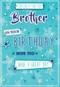 Brother Birthday Card ~ Green Star By Card Essentials  ~ Free P&P