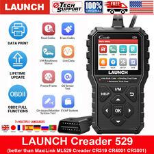 Launch Cr529 Obd Obd2 Engine Universal Car Code Reader Scanner Diagnostic Tool