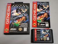 Batman Forever _ SEGA Genesis game w/ case and manual - GENUINE - tested
