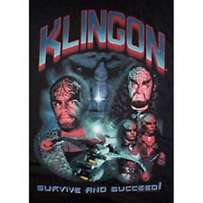 Star Trek Klingons Collage & Battlescruiser Shirt New Unworn