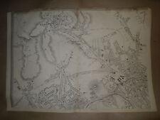 London NW map Hampstead Kentish town Kilburn Cir1863 Dispatch Atlas Framed40more