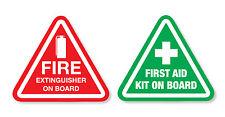KIT di aiuti First & Estintore a bordo adesivi-emergenza/di sicurezza auto, bus, van