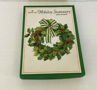 vintage hallmark holiday stationery set in box writing paper decorated paper