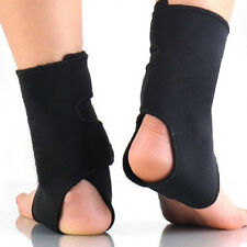 Self-heating Tourmaline Far Infrared Magnetic Therapy Ankle Support Brace 1Pair