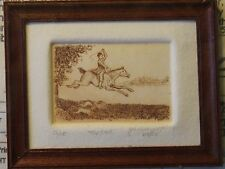 "John Anthony Miller Etching ""The Hunt"" - Artisan Dollhouse Miniature (JAM-06)"