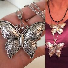 BEAUTIFUL LARGE''BUTTERFLY'' PENDANT & NECKLACE + OTHER NECKLACE CHOICES