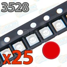 LED SMD 3528 20mA - Rojo - Lote 25 unidades - Arduino Electronica DIY