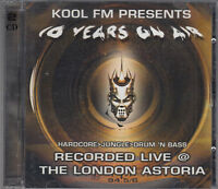 Kool FM  Ten Years On Air Volume 1 & 2 2CD Live London Astoria Hardcore Jungle