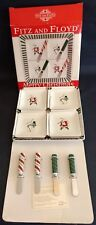 "Fitz and Floyd ~ ""Merry Christmas� ~ 9-Piece Appetizer Set ~ Original Box ~ 2006"