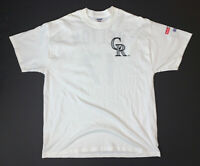 Vintage 90s Colorado Rockies Todd Helton T-Shirt Size XL White