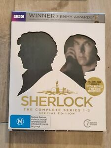 Sherlock Complete Series 1-3 - Blu-Ray Region B - FAST POST