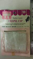 Vintage  Chapel - Cap! Nylon Lace! With Vinyl Carry Case! Unique old Item! NICE
