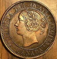 1859 CANADA LARGE CENT PENNY COIN LARGE 1 CENT - Fantastic example!