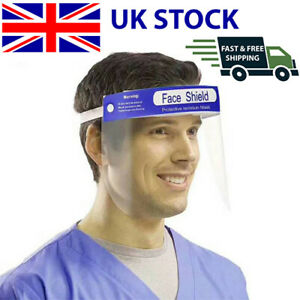 Full Face Shield Visor Protection Mask Sheild Safety Clear PPE UK SHIPPING
