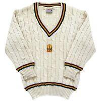 Silver Fleece Tasmania 1991-95 Sheffield Shield Cricket Player Issue L/S Sweater