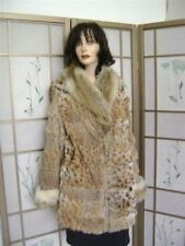$NEW MONTANA LYNX  & KIT FOX FUR JACKET WOMEN SZ 2-4