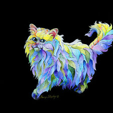 THE PRiMa DoNA Persian Cat 12x12 Original Art on stretched canvas Sherry Shipley