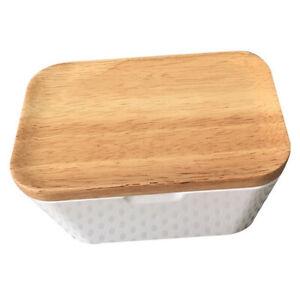 Butter Organizer Crisper Storage Box for Kitchen Freezer Beige 250ml