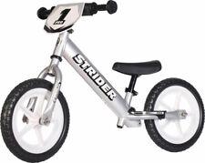 Strider 12 Pro Kids Balance Bike: Silver