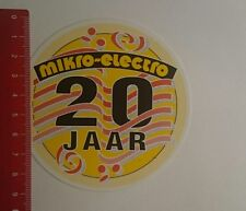 Aufkleber/Sticker: mikro electro 20 jaar (03011724)