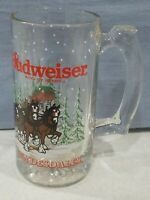 Budweiser Glass Beer Mug King of Beers Clydesdales Anheuser Busch 1988 Vintage
