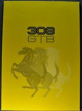 1976 Ferrari 308 GTB Brochure English French Italian Text Excellent Original 76