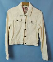 BNWOT SIZE 10-12  ROXY CREAM CORD BOMBER JACKET WITH FLORAL MOTIF AT BACK  R70