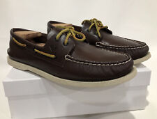 Gorgeous!  SPERRY TOP SIDER Men's Dark Brown Leather Boat Shoes - Size US 12 M