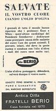 W8793 Olio di oliva BERIO - Pubblicità del 1958 - Vintage advertising