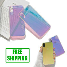 Case For iPhone 7 8 Plus X XR XS 11 Pro Max Holographic Mirror Glossy Cover Skin