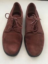 ECCO womens UK6.5 Suede Dark Brown Lace Up Comfort Shoes Walking Oxford Shoes