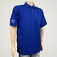 Kroger Grocery Store Employee Blue Polo Shirt SMALL Men's Customer 1st Cotton