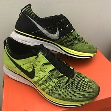 Nike Flyknit Trainer+ 2012 Olympics Volt Black Sneakers 532984-700 Size US 7.5
