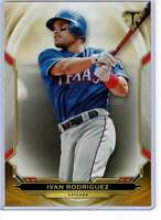 Ivan Rodriguez 2019 Topps Triple Threads 5x7 Gold #94 /10 Rangers