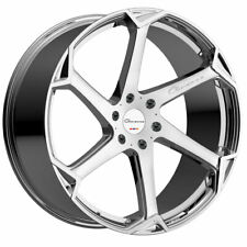 "20"" Giovanna Dalar-X Chrome 20x10 Concave Wheels Rims Fits Ford Mustang"