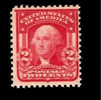 US 1903 - Sc# 319 2 c - Washington Wtmk -  Mint NH - Crisp Color