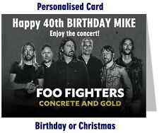 Personalised Foo Fighters Concert Tour Ticket Wallet Card for Birthday  Gift etc