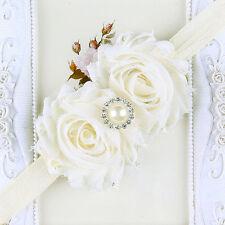 Pelo al bebé recién nacido Niños Niñas flor de la perla diadema