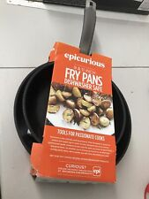 "Epicurious Red Aluminum 2-Pack Fry Pan Set 9"" & 11"""