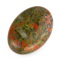 Natural Clinozoisite Tumbled Palm Unakite Stone Crystal Massage Healing Reiki
