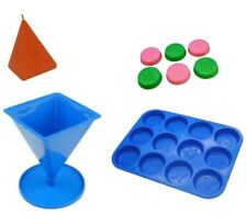 Set x 2, Christmas Design Wax Melt Tart Tray & Pyramid Shaped Candle Mould S7718