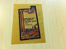 old 1970's Wacky Packages Sticker Trading Card Virginia Slums Slims Cigarettes