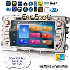 Android 8.0 Ford Autoradio Focus C S-Max Galaxy TNT DAB+ Wifi DVD GPS CAM 7409FR