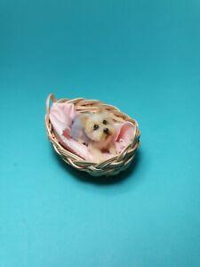 OOAK Realistic yorkie dog   Dollhouse Handmade IGMA ARTISAN